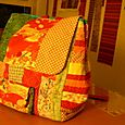 Quilted knapsack (pressie for Mini-Pear's third birthday)